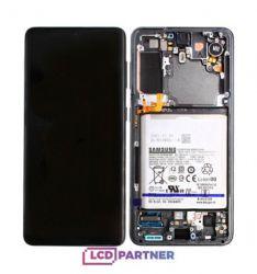 Samsung Galaxy S21 5G (SM-G991B) LCD + dotyková deska + přední kryt šedá - originál