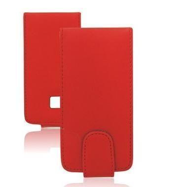 Kožené pouzdro Samsung S3650 Corby knížka Vertical červená neuvedeno
