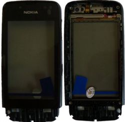 NOKIA 311 Asha dotyková deska - přední kryt black OR